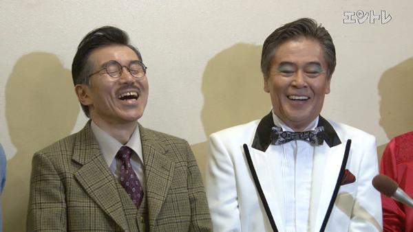 舞台「熱海殺人事件」に出演する風間杜夫、平田 満