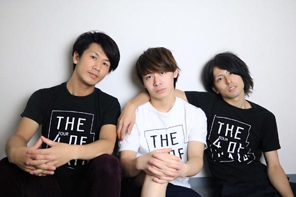 The Four of Matsメンバー(左から大部恭平、中谷爽真、松藤拓也)
