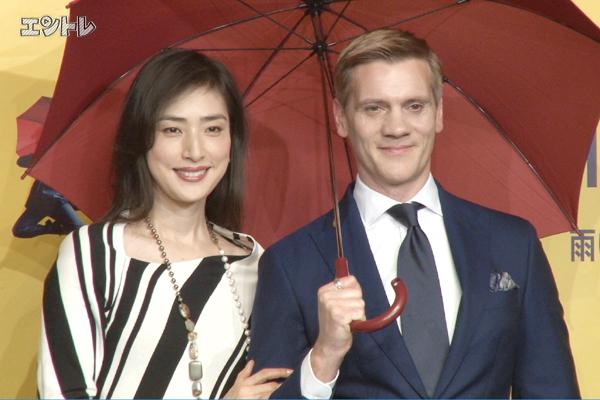 ミュージカル「雨に唄えば」特別会見 アダム・クーパーと天海祐希