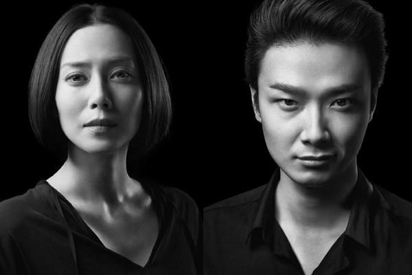 舞台「黒蜥蜴」中谷美紀と井上芳雄