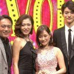 舞台「Little Voice(リトル・ヴォイス)」左から高橋和也、安蘭けい、大原櫻子、山本涼介