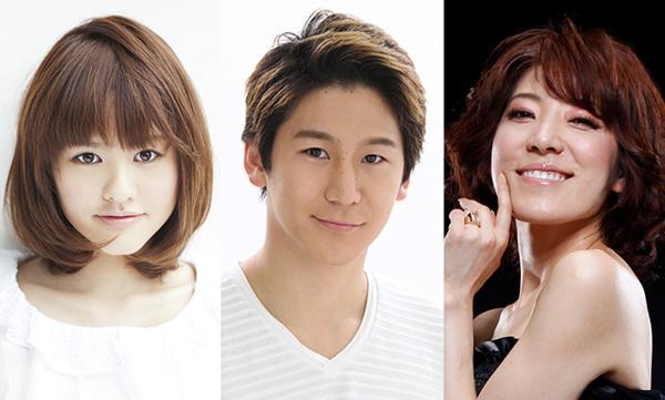 ミュージカル『ナイン・テイルズ~九尾狐の物語~』左から昆夏美、小野田龍之介、J Kim