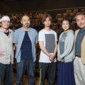 「怪談 牡丹燈籠」左から山本 亨、森新太郎(演出)、柳下 大・松本紀保・青山 勝