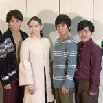 舞台「人間風車」左から矢崎 広、良知真次、ミムラ、成河、加藤 諒、松田 凌