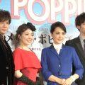ミュージカル「メリー・ポピンズ」製作発表 左から柿澤勇人、平原綾香、濱田めぐみ、大貫勇輔