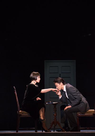舞台「黒蜥蜴」中谷美紀、井上芳雄