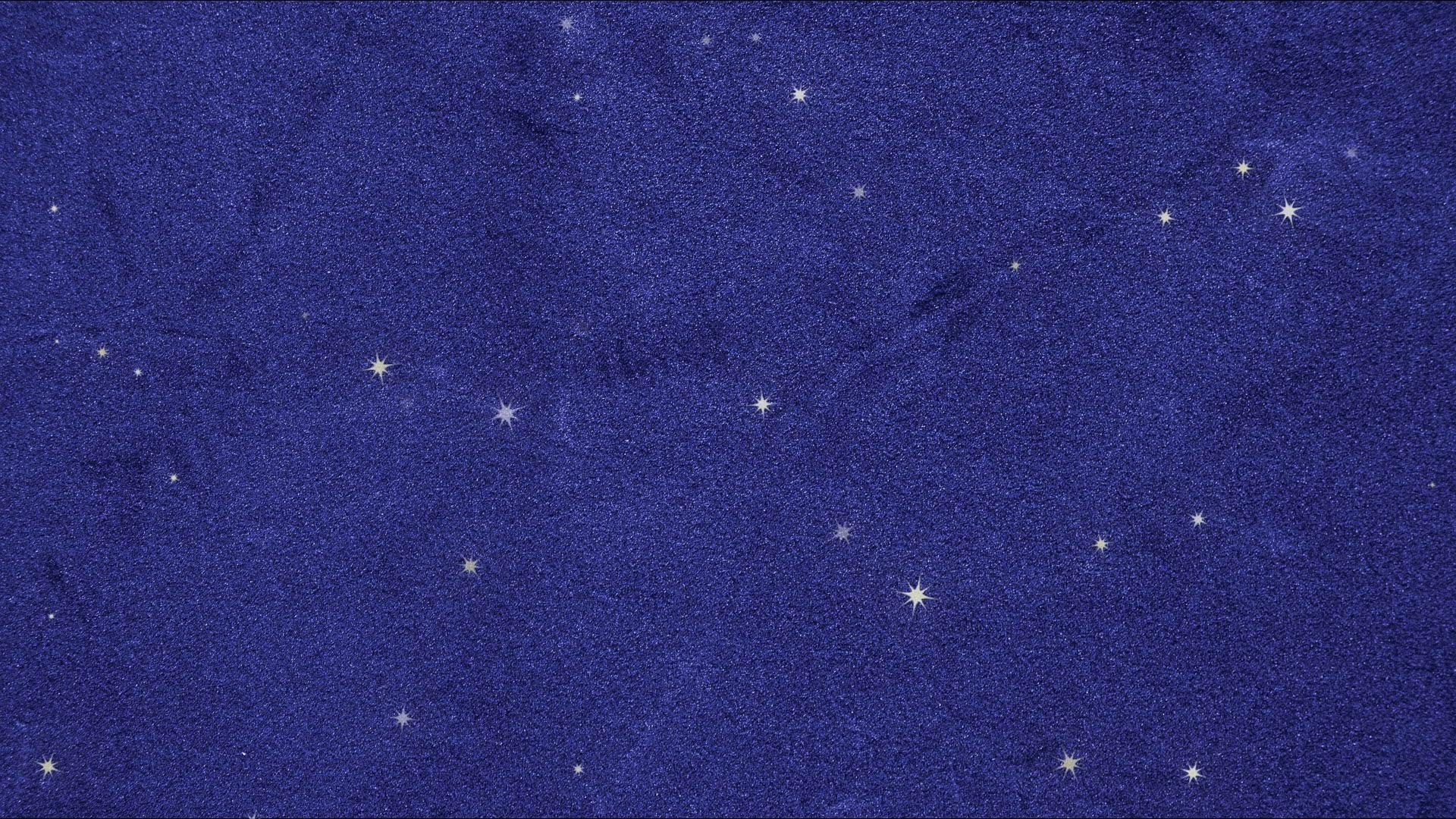 青ベルベット布にたくさんの星