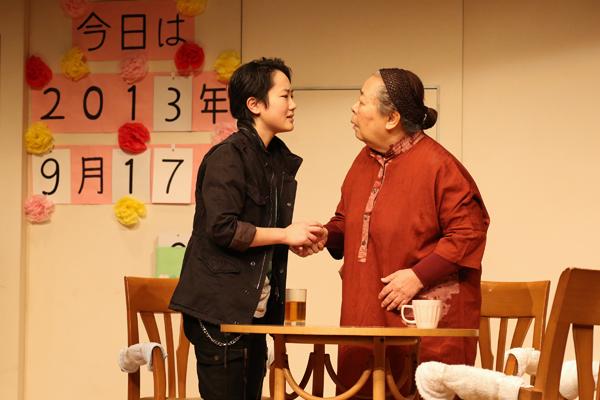 劇団銅鑼「おとうふコーヒー」舞台写真