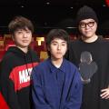 舞台「ラケット」 左から川谷修士(2丁拳銃)、若林時英、長谷川忍(シソンヌ)