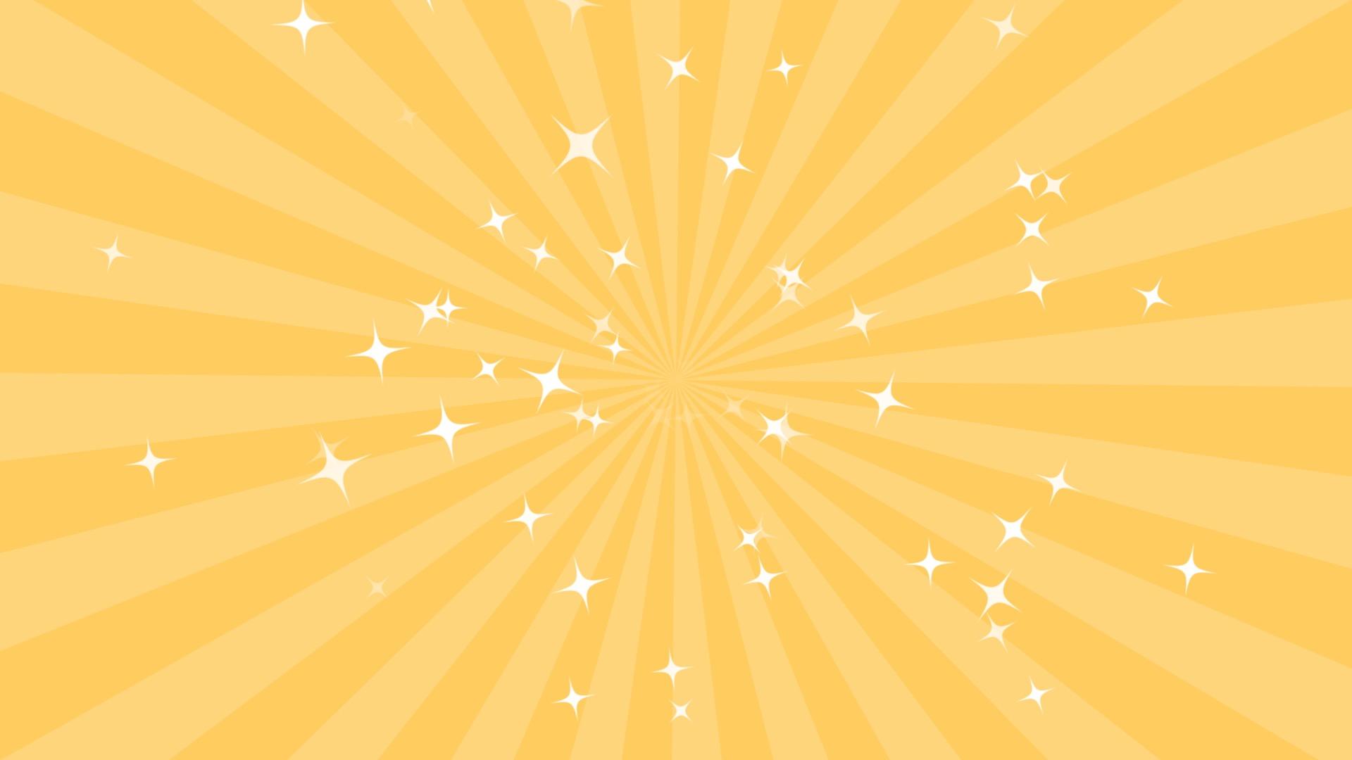 黄色の集中線