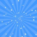 青色(水色)の集中線
