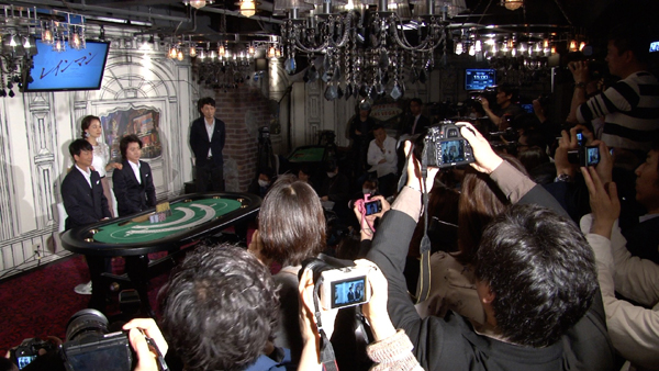 舞台「レインマン」フォトセッション 椎名桔平、藤原竜也、中越典子