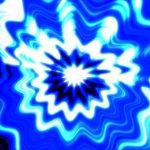 青い花のような背景動画素材