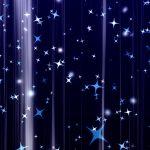 キラキラが上昇していく背景動画素材 青 濃紺 その2