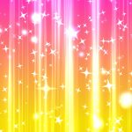 キラキラが上昇していく背景動画素材 ピンクと黄色