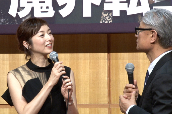 舞台「魔界転生」製作発表 囲み取材 高岡早紀、堤幸彦