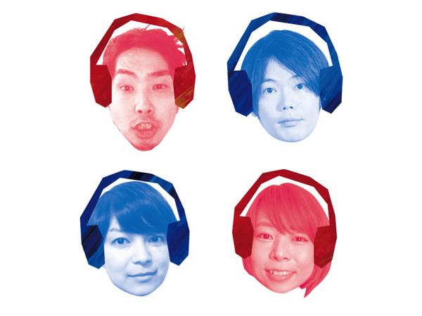 俳優4人右上から時計回りに野村有志、松井真人、真臼ねづみ、岩切千穂
