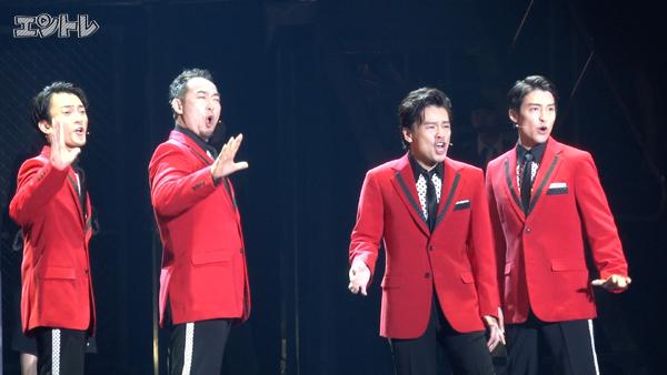ミュージカル「ジャージー・ボーイズ」左から中河内雅貴、中川晃教、福井晶一、海宝直人