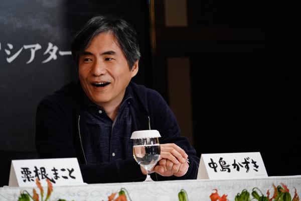 劇団☆新感線『偽義経冥界歌』製作発表より 中島かずき 撮影:田中亜紀