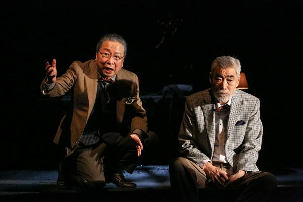 (右から)柄本明、石倉三郎