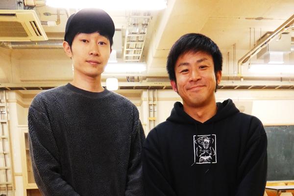 菊地浩輔(チーモンチョーチュウ)、松村惇史(テゴネハンバーグ)