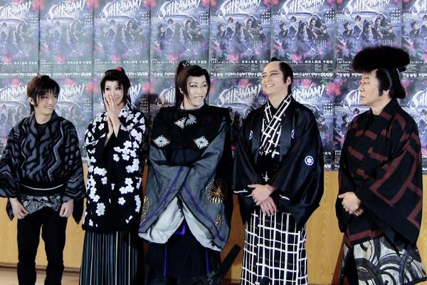 音楽活劇「SHIRANAMI」囲み取材より