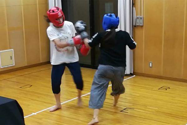 ボクシングのトレーニングの様子