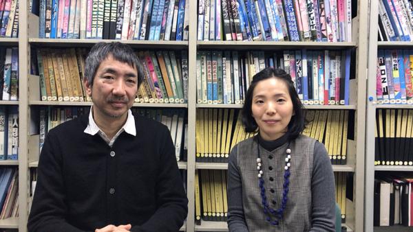左から松田正隆、金澤菜乃英