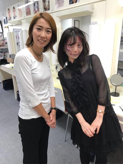 ↑三善メークアップ研究所の市川さんと。ありがとうございました!