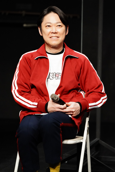 Yellow新感線『月影花之丞大逆転』製作発表 阿部サダヲ 撮影:田中亜紀